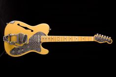 Trussart Deluxe SteelCaster B16 Bibsby Butterscotch Telecaster Thinline, Banjos, Beautiful Guitars, Fender Guitars, Cool Countries, Electric Guitars, Music Stuff, Instruments, Dreams