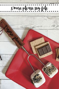 Customize your marshmallow roasting sticks with this fun FREE SVG from Everyday Party Magazine #Smore #SVG #EverydayPartyMagazineShop