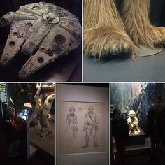 #100daysofhomeed today we went to Star Wars Identities.  Lots of fun as we all love Star Wars.  I think Gothgirl got some inspiration for future SFX/mask making, she's working with fur now so Chewie was a help.  We got to see lots of real props, puppets, concept art, models, replicas and costumes.  We created our own Star Wars characters with identities covering not only species and occupation, but all the little things that make us who we are.  It covered environment, upbringing, genetics…