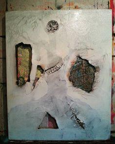 After the gesso #studio #art #transformation #metamorph