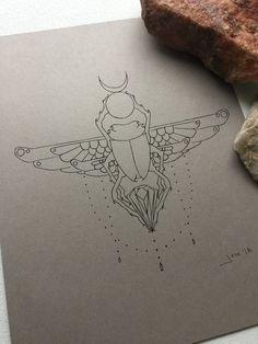 Love Tattoos, Tatoos, Scarab Beetle Tattoo, Beetle Drawing, Egypt Tattoo, Egyptian Art, Tattoo Sketches, Compass Tattoo, Traditional Tattoo