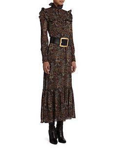 Saint Laurent - Paisley Print Maxi Dress