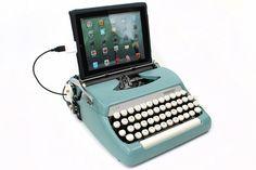 Typewriters converted to iPad keyboards
