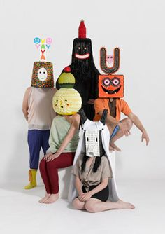 Tribal masks made from sweets!!! By Damien Poulain. Childish - therefore amazing.