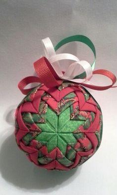 Christmas folded fabric ornament 2013