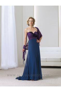 Sweetheart Court Train Chiffon Sheath Column Mother Of The Bride Dress