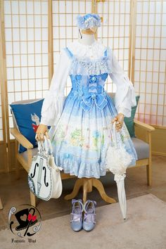 --> #LolitaUpdate: Rabbit Teeth [-✿-Sound of Flowers-✿-] JSK --> Size XXL available for plus-sized Lolis --> Learn More: http://www.my-lolita-dress.com/rabbit-teeth-sound-of-flowers-gorgeous-chiffon-lolita-jsk