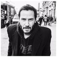 "Keanu Reeves // ""You see these people behind me? They are rushing to work and not paying attention to anything. Sometimes we get so caught up in our daily lives that we forget to take the time out to enjoy the beauty in life. It's like we're zombies. Look up and take your head phones out. Say hi to someone you see and maybe give a hug to someone who looks like they're hurting. Help out someone. You have to live every day like it's your last."""