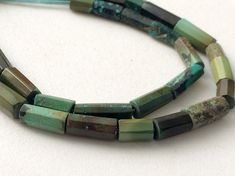 Arizona Turquoise Faceted Tube Beads Natural by gemsforjewels