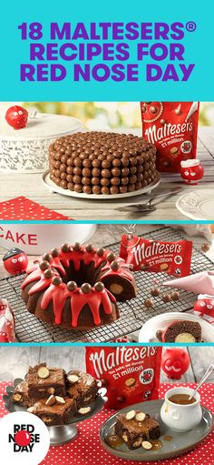 We've teamed up with Maltesers who have created 18 delicious recipes for you to make for your bake sale. Sweet Recipes, Delicious Recipes, Yummy Food, Baking Recipes, Cake Recipes, Dessert Recipes, Tapas, Recipe R, Red Nose Day
