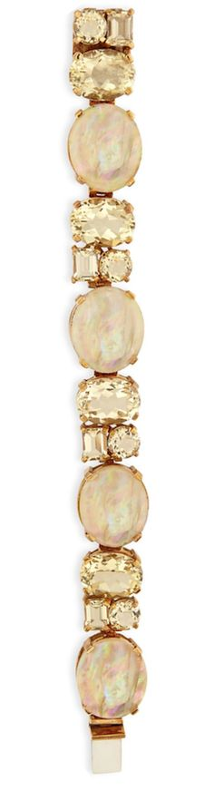 Stephen Dweck Mother-of-Pearl & Yellow Quartz Bracelet Gold Jewelry, Jewelry Box, Yellow Quartz, Shades Of Beige, Beaded Bracelets, Statement Bracelets, Bling, Jewels, Crystals