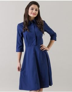 Blue Darling Shirt Dress