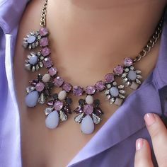 Viva la Jewels — 1 Left! Viva la Jewels: Perfectly Lavender Crystal Necklace