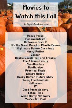 Halloween Movies List, Halloween Movie Night, Halloween Town, Movie To Watch List, Good Movies To Watch, Movie List, Netflix Movies To Watch, Best Fall Movies, The Fall Movie