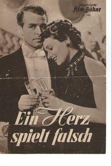 Film-Bühne Kinoheft Nr. 1963  Ein Herz spielt falsch  Erschienen 1953    Schönes Filmheft doppelseitig  Guter Zustand (1-)  altersbedingte Gebrauchssp