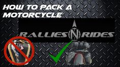 Motorcycle Packing Tips, Learn the secret to maximizing space on your mo...