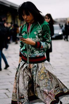 Margaret Zhang - Milan Fashion Week Fall 2016 Street Style -- February 24, 2016 #MFW #FW16