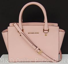 NWT Michael Kors Saffiano Leather Selma Medium TZ Satchel Purse Bag ~Pastel Pink #MichaelKors #TotesShoppers