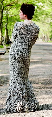 Crocheted coat -- TO DIE FOR!