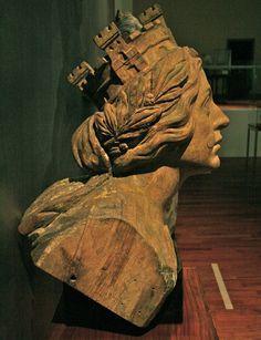 Figurehead from the Spanish ship 'Prime Juan Sebastián el Cano' attributed to Federico Saenz Venturini