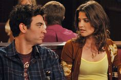 Ted Mosby and Robin Ted Mosby, Ted Und Robin, Barney And Robin, How I Met Your Mother, Parks And Recreation, Robin Scherbatsky, Amy Farrah Fowler, Jane The Virgin, Jim Halpert