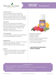 Young Living Essential Oils - Envision - Learn more about Young Living Essential… Yl Oils, Yl Essential Oils, Young Living Essential Oils, Essential Oil Blends, Oils For Life, Young Living Oils, Natural, Facebook, Oil Diffuser