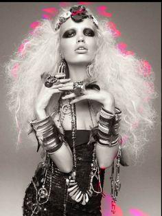 Warrior Princess (aka Donatella Versace) for Vogue Italia.