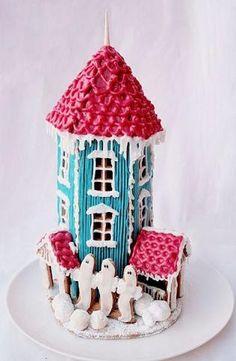 Muumi- piparkakkutalo - Ullanunelma Winter Christmas, Christmas Ornaments, Ideas Para Fiestas, Moomin, Winter Time, Cake Art, No Bake Cake, Scandinavian, Gingerbread Houses