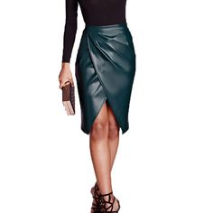 Fashion Clothes Woman Skirts PU Faux Leather Midi Pencil Bodycon Skirts 2017 New Ladies Sexy Tube Skirt Saia Femininas Skirt Outfits, Cute Outfits, Faux Leather Skirt, Leather Skirts, Pu Leather, Jobs For Women, Thing 1, Tube Skirt, European Fashion
