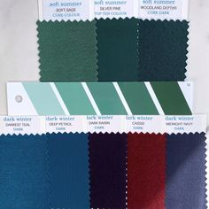 Soft Summer Color Palette, Summer Colors, Purple Wisteria, Deep Winter, Soft Autumn, Seasonal Color Analysis, Season Colors, Fabric Swatches, Sage