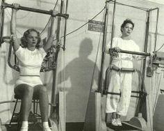 Vintage Gym Machine exercise