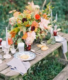 "Do you prefer a romantic picnic to a fancy restaurant dinner? Are the best moments those spent relaxing ""alfresco style?"" Reminiscent of the French countryside, a Moveable Feast wedding theme...visit this site for great inspiration!"
