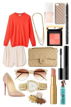 Untitled #140 by bradleajames on Polyvore featuring polyvore, fashion, style, Christian Louboutin, Chanel, GUESS, Vince Camuto, The Case Factory, Giorgio Armani, BHCosmetics, Christian Dior, MTWTFSS Weekday, Too Faced Cosmetics and clothing
