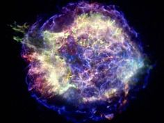What Is A Supernova? This Chandra X-ray photograph shows Cassiopeia A (Cas A, for short), the youngest supernova remnant in the Milky Way. Credit: NASA/CXC/MIT/UMass Amherst/M.Stage et al. Cosmos, Neutron Star, Modelos 3d, Space Photos, Space Images, Space And Astronomy, Astronomy Facts, Hubble Space, To Infinity And Beyond