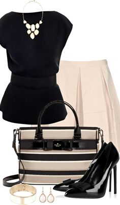 Raoul Top ● Blumarine Skirt ● Kate Spade Bag ● Saint Laurent Pumps