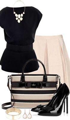 Raoul Top ● Blumarine Skirt ● Kate Spade Bag ● Saint Laurent Pumps