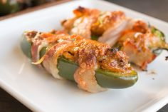 Bacon Wrapped Jalapeno Poppers with Shredded Chicken and Cheese - Recipe