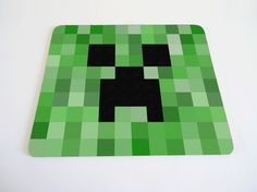 Items similar to Minecraft inspired creeper mouse pad on Etsy Minecraft Blocks, Minecraft Room, Minecraft Party, Minecraft Stuff, Picnic Blanket, Outdoor Blanket, Retro Video Games, Creepers, Stocking Stuffers