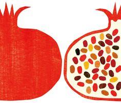 Kazuaki Yamauchi - Pomegranate print