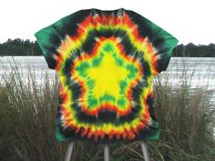 How To Tie Dye A Nice Five Pointed Star On A Shirt