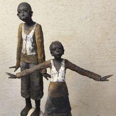 Joelle Gervais Gervais, Joelle, Art Sculptures, Kind, Art Dolls, Mixed Media, Vase, Statue, Sculptures