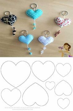 Easy DIY Felt Crafts, Felt Crafts Patterns and Felt Craft Tutorial Pdf. Felt Crafts Patterns, Felt Crafts Diy, Felt Diy, Cute Crafts, Diy Crafts To Sell, Sewing Crafts, Sewing Projects, Crafts For Kids, Stick Crafts