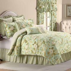 for the guest bedroom grandiflora reversible comforter set in glacier - Waverly Bedding