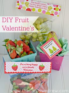Non Candy Fruit Valentines Ideas with Free Prints