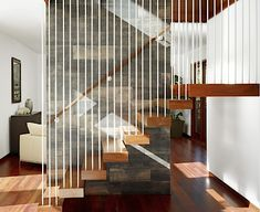 Single Stringer Steel Stairs Beautiful Photos Interior Invisible Stringer Floating Stairs With Oak Beech Wood Interior Exterior, Interior Architecture, Interior Design, Brick Ranch Houses, Stair Renovation, Stair Railing Design, Floating Staircase, Modern Stairs, Modern House Design