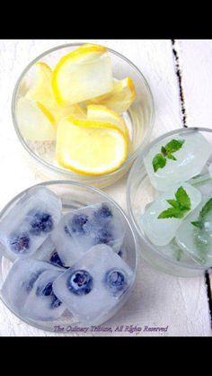 Put fruit in ice refreshing summer treat