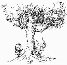 """The Great Oak Tree (1890), by Sir William Gilbert (1836-1911) [published in """"Songs of a Savoyard"""", page 131], from Act 2 of """"Ruddygore"""" (1887), by Sir Arthur Sullivan (1842-1900). There grew a little flower / 'Neath a great oak tree: / When the tempest 'gan to lower / Little heeded she: / No need had she to cower, / For she dreaded not its power— / She was happy in the bower / Of her great oak tree!"""