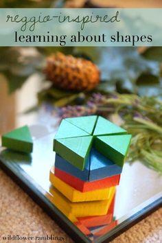 reggio inspired learning about shapes - Wildflower Ramblings #preschool