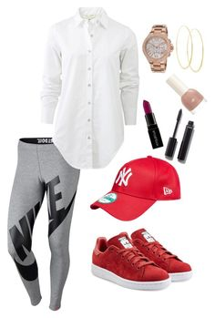 """Sports Luxe"" by fifioriginals on Polyvore featuring NIKE, rag & bone, adidas Originals, Lana, Michael Kors, Smashbox and Chanel"