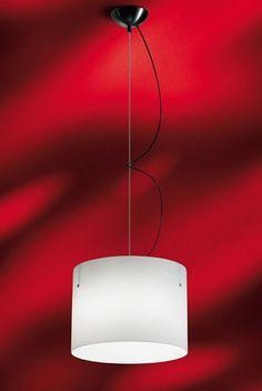Nemo Donna Large White Glass Pendant, Stylish Suspension Light with White Glass Shade Italian Lighting, Large White, Design Firms, Glass Pendants, Glass Shades, Lighting Design, Contemporary Design, Lights, Stylish